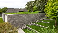 Lakewood Cemetery Garden Mausoleum Landscape by Halvorson Design Partnership « Landscape Architecture Platform Landscape Stairs, Landscape Plans, Urban Landscape, Landscape Design, Montana Landscape, Architecture Design, Landscape Architecture, Architecture Definition, Architecture Panel