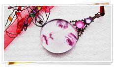 Handmade Glass Pendant  With Beautiful Fornasetti by ScotlandUK, $24.00