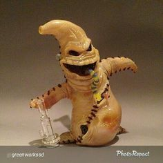 The Boogie Oogie Man from the Nightmare Before Christmas in glass pipe form