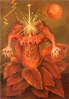 Frida Kahlo - Flower of Life (Flame flower) - 1943