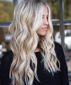 great Balayage hair for blond hair – Hair Ideas Brown Blonde Hair, Blonde Balayage Long Hair, Long Blond Hair, Blonde Hair Goals, Curl Long Hair, Blonde Hair Highlights, Blonde Hair Colors, Winter Blonde Hair, Blonde Balyage