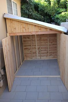 Considering a garden shed? Then before you embark on your project make sure you have a reliable shed plan for the design you have in mind. Building your own shed can without doubt cut costs but Outdoor Storage Sheds, Storage Shed Plans, Outdoor Sheds, Wood Storage Sheds, Bike Storage, Storage Ideas, Garden Shed Diy, Backyard Sheds, Lawn And Garden