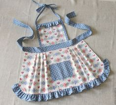 Jean Apron, Cute Aprons, Sewing Aprons, Apron Designs, Kids Apron, Apron Dress, African Fashion, Sewing Projects, Kids Outfits
