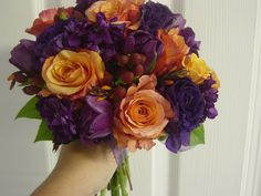orange purple flowers