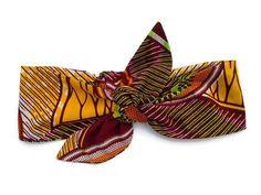 headband à nouer wax africain headwrap turban tissu par WAXetc