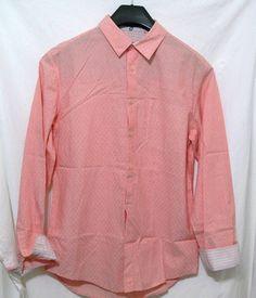 Elie Tahari Jonas Shirt Papaya Long Sleeves Button Front Cotton Size S $198 #ElieTahari #ButtonFront
