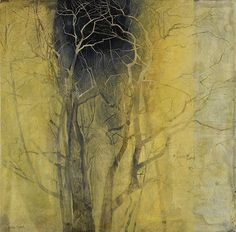 Victoria Crowe(British, b.1945)/ Frost Pocket / Oil on linen - www.Art-Competition.Net