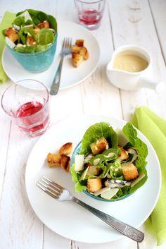 Cute way to serve a caesar salad. Insalata alla Cesare a modo mio