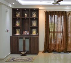 Here are some tips on how to decorate pooja room. Add beautiful mandaps and mandirs. You can decorate pooja room with flowers, lights and rangoli designs. Temple Design For Home, Mandir Design, Dressing Table Design, Pooja Room Door Design, Indian Interiors, Puja Room, Home Interior Design, Interior Designing, Interior Ideas