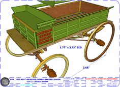 Prototypical finescale model American Farm Wagons built with the same materials as they were over 100 years ago, including nuts and bolts. Running Gear, Wheelbarrow, Boards, Delivery, Box, Model, Beautiful, Planks, Snare Drum