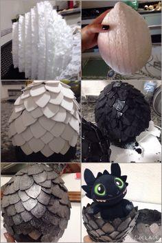 Diy dragon egg  My first dragon egg #NightFury #HowToTrainYourDragon #DragonEgg #GOT #Toothless #Diy #geek