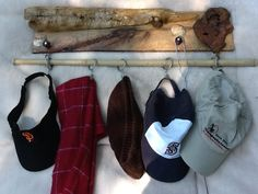 diy hat rack ideas instead of throwing your hats in the corner of the coat closet or losing them to a top shelf in any or every room of the house, build . Baseball Hat Racks, Cowboy Hat Rack, Diy Hat Rack, Coat And Hat Rack, Hat Shelf, Hat Holder, Hat Organization, Hat Display, Pinterest Diy