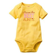 Baby V will have 2 amazing aunts in Auntie Christy & Auntie Shelby! She's excited to wear this onesie too :-)