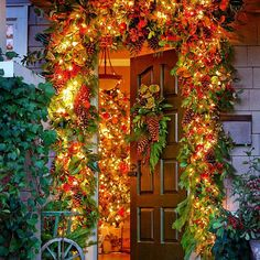 Garden Inspired - 60 Beautifully Festive Ways to Decorate Your Porch for Christmas