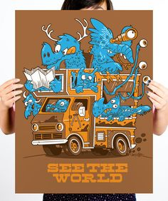 See The World poster by Joey Ellis $15