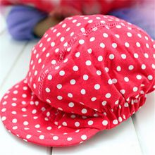 a032ac86f6427 New Arrival Spring summer Baby Hat Cotton Adjustable Dot Baseball Cap Child  Boys Girls Snap