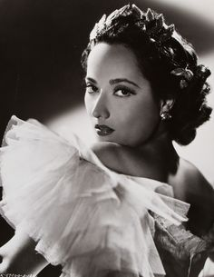 """MERLE OBERON ~ Born: Feb 19, 1911, in India. Died: Nov 23, 1979 (aged 68) from a massive stroke. Merle began her career in British films & landed a part in """"Men of Tomorrow"""" (1933) followed by """"The Private Life of Henry VIII"""" (1933) """"The Private Life of Don Juan"""" (1934) & """"The Scarlet Pimpernel"""" (1934). Her most critically acclaimed performance was as Cathy in """"Wuthering Heights"""" (1939). Starred in """"Désirée"""" (1954) with Marlon Brando & Jean Simmons. Her final film was """"Interval"""" (1973)."""