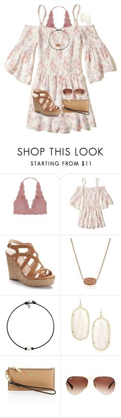 graduation party today!  by preppy-renee ❤ liked on Polyvore featuring Humble Chic, Hollister Co., Jennifer Lopez, Kendra Scott, Tory Burch and Ray-Ban