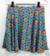 FLYING TOMATO Short Skirt Womens Size Large Turquoise Pyschedilec