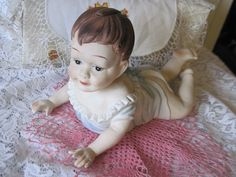 Your place to buy and sell all things handmade Blue Gown, Bisque Doll, Coupon Codes, Baby Blue, Piano, Delicate, Flower Girl Dresses, Miniatures, Coding