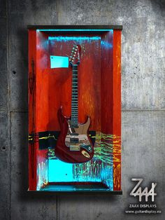 "Wall guitar display ""Red Satisfaction"""