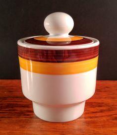 Colditz Inglasur German Porcelain Mod Sugar by VintageQuinnGifts