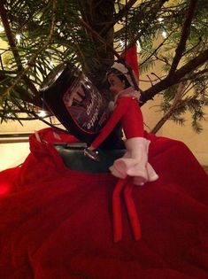 Giving The Christmas Tree some Chocolate Syrup Elf!  20 Reasons Not To Trust The Elf On The Shelf