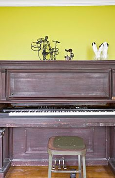 Living With Kids: Sarah Sandidge, Revisited keyboard in an old piano