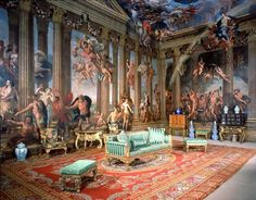 Painted ceilings in Heaven Room by Antonio Verrio - Burghley House, Stamford, Lincolnshire, England, UK (Rosings)