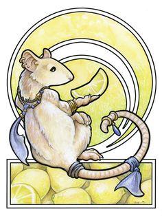 Use of Negative Space  (Rat Nouveau: Lemons by `ursulav)