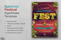 Summer Festival Flyer Template | The Hungry JPEG