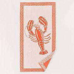 Coral Lobster Beach Towel | World Market