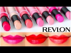 ▶ Revlon ColorStay Ultimate Suede Lipstick Swatches on Lips 7 colors | Review - YouTube