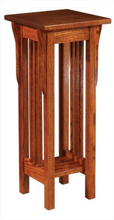 Amish Prairie Mission Plant Stand 30 inches high x 12 inches wide Arts And Crafts Furniture, Handmade Furniture, Furniture Projects, Wood Projects, Amish Furniture, Solid Wood Furniture, Furniture Plans, Diy Furniture, Luxury Furniture