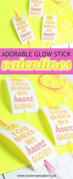 These adorable glow stick valentines make great valentines for girls! If you're looking for glow stick valentine ideas for kids, you'll love these glow stick valentine printable free. And did I mention they're free printable valentine cards! These valentines for boys make great classmates and valentines for kids school. These printable valentines for kids free are also great printable valentine cards for kids. #freeprintable #free #valentinesday #printable