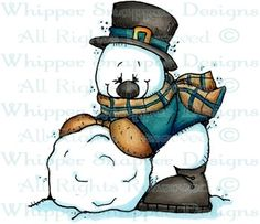 Snowball Snowman - Snowmen Images - Snowmen - Rubber Stamps - Shop