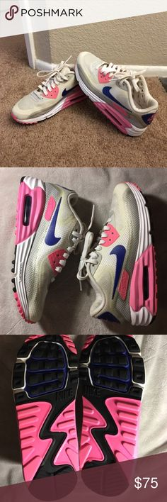 Authentic Nike Air Max lunar 90 Authentic Nike Air Max lunar 90 - only worn indoor less than 5 times - like new condition.  - has minor scratches from worn   **It will fit you if you wear 7- 7.5 ** no box Nike Shoes Athletic Shoes