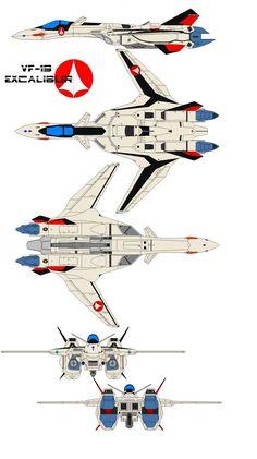 Shinsei Industries Excalibur eagle one The Prototype Advanced Variable Fighter (AVF) was designed and built in 2039 by Shinsei Industries as. Excalibur eagle one Robotech Anime, Robotech Macross, Mecha Anime, Spaceship Art, Spaceship Design, Gi Joe, Macross Valkyrie, Starship Concept, Sci Fi Models