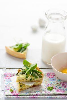 Asparagus Tart Slices. Perfect for a Bridal Brunch!