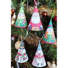COLOUR IN: CHRISTMAS CONES by Kate Hadfield A fun set of 5 hand drawn, out...