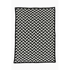 Jagger Blanket / Throw in Black + Grey | LET LIV