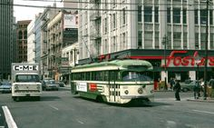 San Francisco, california. The intersection of mission and first streets 1970