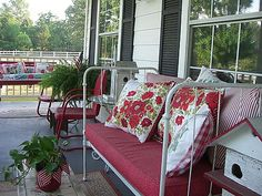 Sweet vintage summer porch from Cherry Hill Cottage blog #porch #summer