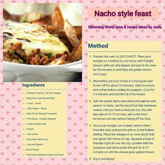Slimming world nacho style feast Healthy Beef Recipes, Lunch Recipes, Diet Recipes, Cooking Recipes, Nacho Style Feast, Slimming World Tips, Slimmimg World, Easy Cooking, Main Meals