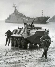 """East German NVA amphibious landing exercise. If you click on the """"Visit"""" button, there are a lot of great pictures that can be pinned."""
