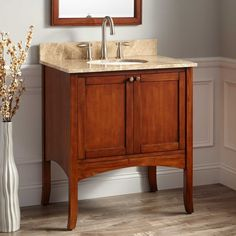 "30""+Cadmon+Vanity+for+Undermount+Sink+-+Antique+Cherry"