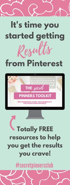 Are you looking for some free resources to show you how to use pinterest to drive traffic to your blog and build your list. The secret pinners toolkit has everything you need to get the results you crave with Pinterest.