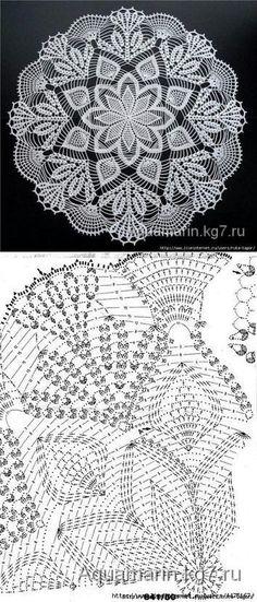 Crochet doilies - free pattern...<3 Deniz <3