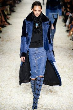 Tom Ford Fall 2015 - Acne Studios North raw leather-trimmed denim jacket, $500…