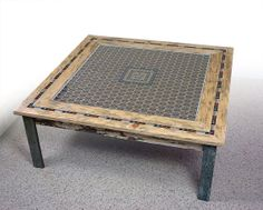 Razor Blade Art Coffee Table made from by GalvanizedAmerica, $1495.00